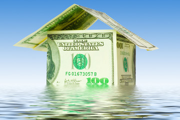 money house in water