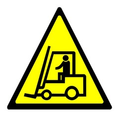 Warning sign - forklift truck
