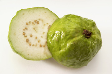 halved guavas