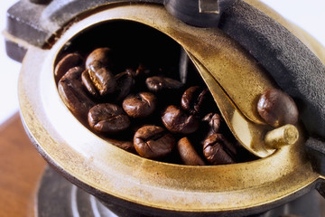 coffee mill, close-up