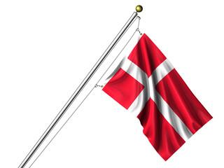 Isolated Danish Flag