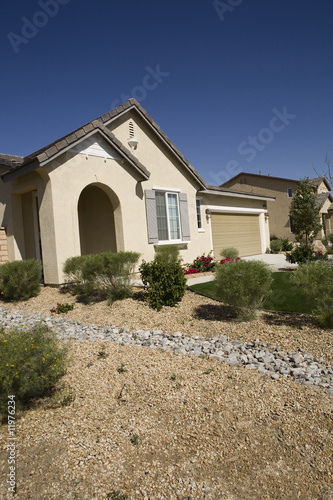 New House With Landscaped Yard