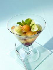 melon salad with cassis
