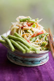 papaya salad with snake beans and shrimps (thailand)