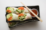 vietnamese spring rolls with chili sauce to take away