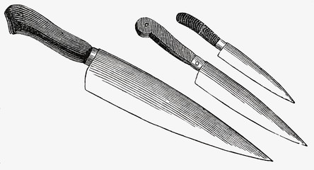 various knives (illustration)