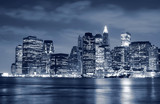 Lower Manhattan skyline At Night - Fine Art prints