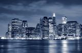 Lower Manhattan skyline At Night - 11982287
