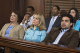Jurors in courtroom during trial