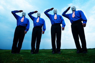 FACELESS MALE GROUP