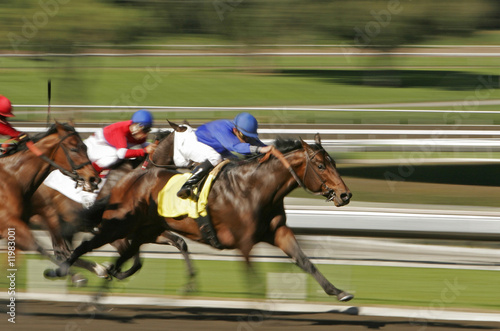 Foto op Aluminium Paardensport Abstract Motion Blur Horse Race