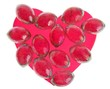 Candy Valentines heart with glass stones around