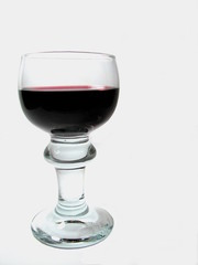 Isolated Wine Glass with red wine