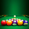 billiard balls  with copy space