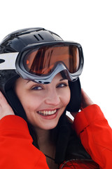 Young woman in winter sports clothing