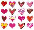 Quadro sixteen heart, vector