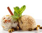 Fototapete Kalt - Eis - Nachtisch