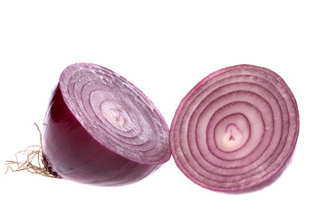 Sliced Red Onion Isolated