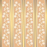 Pink floral stripes background (vector)
