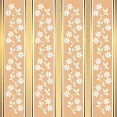 Pink floral stripes background (vector)