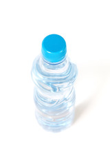 view on the water bottle from above