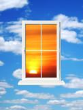 sundown in window poster