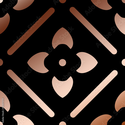 Copper and Black Pattern