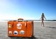 Картинка 322719: (оранжевый, цвет, чемодан, путешествие, пляж, песок...