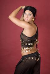 Beautiful arabian style dancer