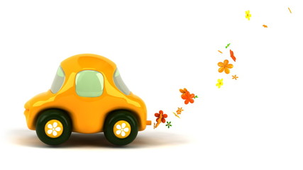 Voiture flower power