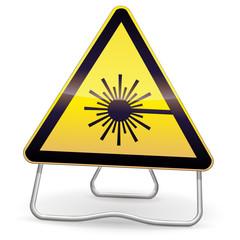 Panneau de danger laser (ombre)