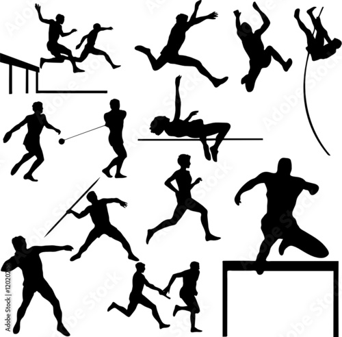 athletic sport vector silhouettes