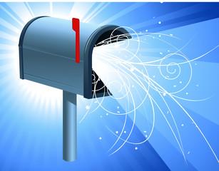 Mailbox with light