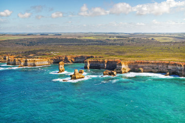 Great Ocean Road, Twelve Apostols - view from a helicopter