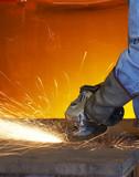 grinding orange poster