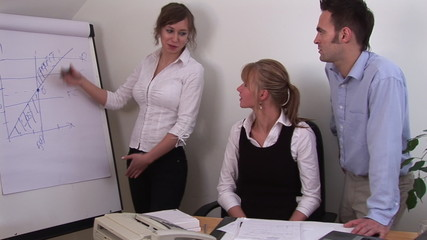 People working in a team in office