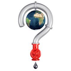Pipeline formant un point d'interrogation autour de la Terre