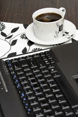 laptop and coffe