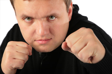 Man prepared for protection