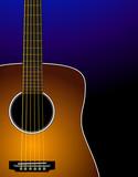 Sunburst acoustic guitar - Realistic poster
