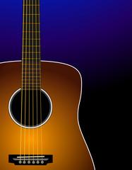 Sunburst acoustic guitar - Realistic