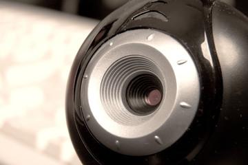 web camera close-up
