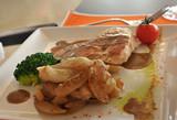 plat de viande et navets poster