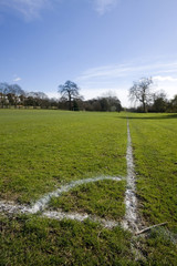Corner marking on football fields