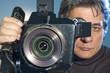 Cameraman  and camera.
