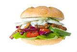 Döner Kebab isoliert auf weiß