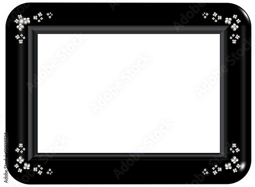 Black & Sliver Frame - Isolated Clipping Path