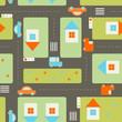 roleta: Streets seamless pattern