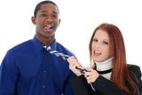Flirting Interracial Couple poster