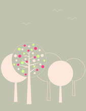 giardino alberi